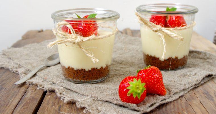 No bake cheesecake met aardbeien