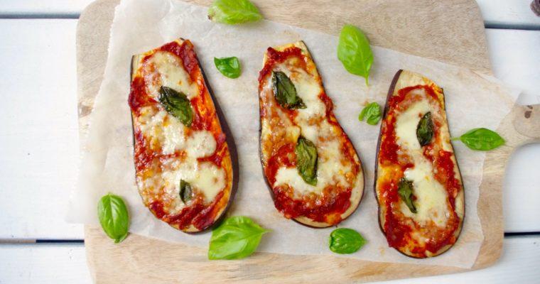 Gezonde aubergine pizzaatjes
